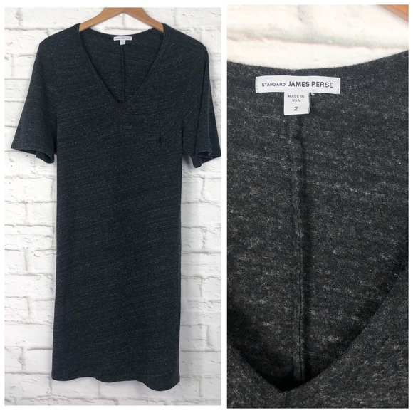 James Perse V Neck T Shirt Dress